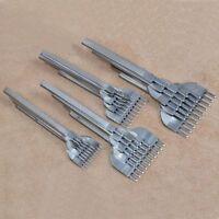 3//4//5//6mm 1-10 Hole Leather Craft LeatherCraft Stitching Punch Punche Prong Tool