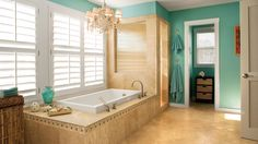 7 Beach-Inspired Baths | Spruce up your bathroom with these relaxing ideas for coastal accents and colors.