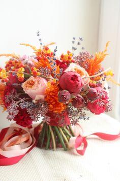 Осенний  свадебный букет wedding flowers