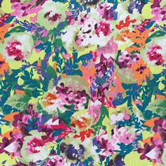 Fashion Knits- Matte Jersey Packed Floral Fabric, , hi-res