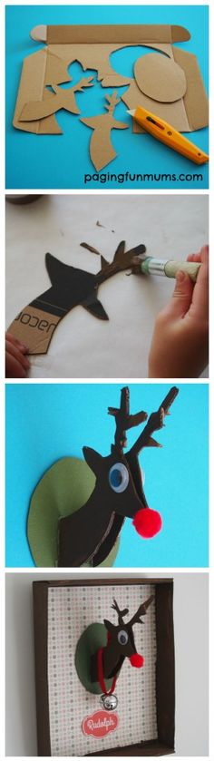 Reindeer Shoe Box Craft - such a cute Christmas project!