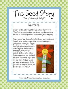 The Seed Story - fun plant craftivity!