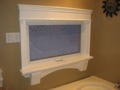 Custom made mouldings with solid pine shelf and corbells.     http://www.FollowTheGrain.com