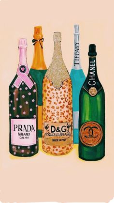 Champagne bottles painting (Fashion Illustration Print - Fashion Sketch prints - Home Decor - Wall Decor - Fashionistas) Photo Wall Collage, Picture Wall, Collage Art, Collages, Fashion Wall Art, Fashion Painting, Artwork Prints, Wall Prints, Canvas Prints