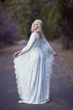 Bohemian Wedding Dress Hippie Bohemian Gown by DaughtersOfSimone