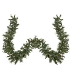 9' x 10 Snow Mountain Pine Artificial Christmas Garland - Unlit 31466958 | ChristmasCentral