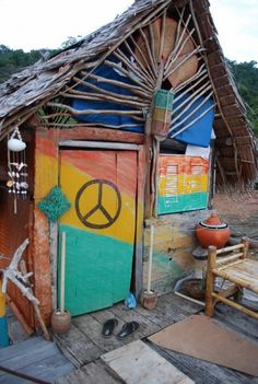 Rainbow hippie shack