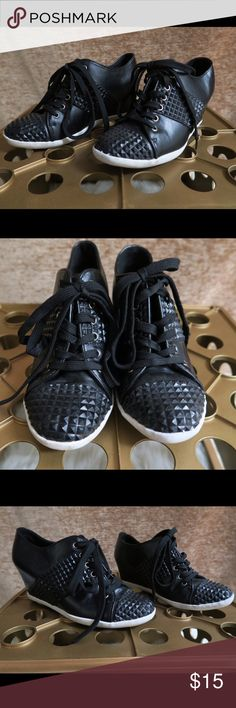^^^Forever 21 black studded wedge sneaker^^^ Like new and very comfy. Forever 21 Shoes Wedges