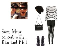 Dan and Phil Muse Concert by llamarider on Polyvore featuring Boohoo, Steve Madden and 3.1 Phillip Lim