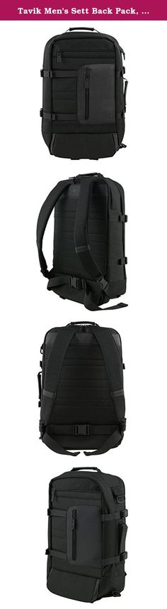 Tavik Men's Sett Back Pack, Black, One Size. The sett bag redefines the average traveler's backpack with specially designed tech and lifestyle functions. Including a wet/dry compartment, ample room for travel packing and tailored pockets to fit every device on the market, you'll be fully supported for your next adventure.