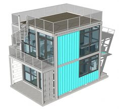 Container House - Foxworth Architecture - Schnitzelburg Container Homes - Who Else Wants Simple Step-By-Step Plans To Design And Build A Container Home From Scratch? Prefab Container Homes, Shipping Container Home Designs, Building A Container Home, Container Design, Container Cabin, Prefab Homes, Shipping Containers, Sea Container Homes, Container Office