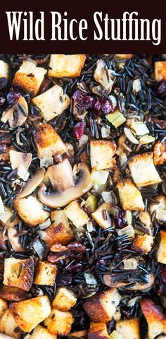wild rice with mushrooms cranberries and walnut oil recipes wild rice ...