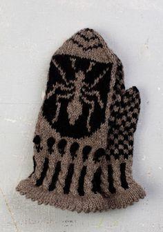 Knit Mittens, Knitting Socks, Knitting Stitches, Mitten Gloves, Knit Socks, Knitted Animals, Fair Isle Knitting, How To Purl Knit, Yarn Crafts