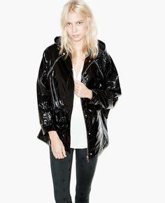 Women Fashion Punk Goth Hooded Metal Color Black Long Coat Parka Casual in Clothing, Shoes & Accessories, Women's Clothing, Coats & Jackets Black Raincoat, Style Rock, Minimalist Fashion Women, Latest Fashion Trends, Fashion Tips, Punk Goth, Parka Coat, Rain Wear, Fashion Over 40