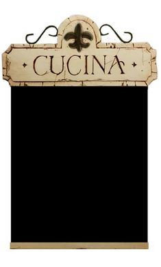 Tuscan/Italian themed chalkboard to use for the menu! Instead of buying little menus to place on everyone's plate..this will definitely be cute and a money saver!
