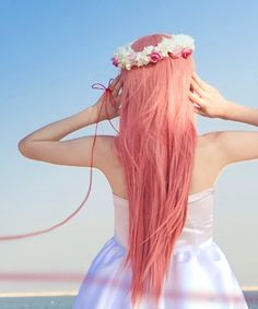 Your thoughts for Pastel hair photo Jessicaelle's photos - Buzznet - Coral hair Coral Hair, Pastel Pink Hair, Peach Hair, Apricot Hair, Coral Pink, Coral Colour, Pastel Colors, Rose Hair, Coral Orange