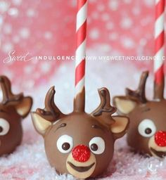 Reindeer chocolate apples!! Want to eat one
