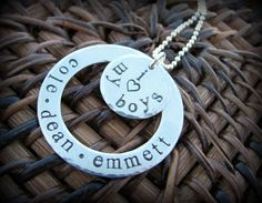 jewelry for moms of boys | ... heart) My Boys - Personalized Necklace - Sterling Silver - Mom of Boys