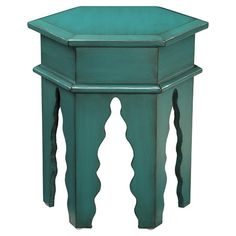 Tangier End Table in Teal Green