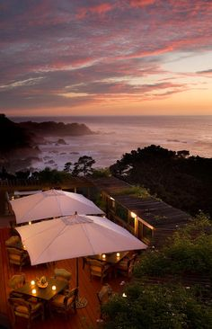 View from the Tickle Pink Inn, Carmel Highlands, Carmel, CA - honeymoon and 50th birthday...can't wait!