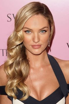 candice swanepoel side swept hair - Google Search