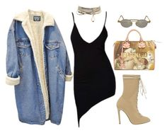 A fashion look from October 2017 featuring fleece denim jacket, canvas lace up shoes and pre owned bags. Browse and shop related looks. Polyvore Outfits, Polyvore Fashion, Yeezy By Kanye West, Casual Outfits, Fashion Outfits, Going Out Outfits, What To Wear, Kansai Yamamoto, Evening Dresses