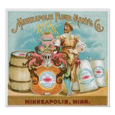 1885 Baking Powder Vintage Style Advertising Poster 16x20