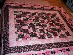 baby quilt. dissapearing 9 patch. 2011
