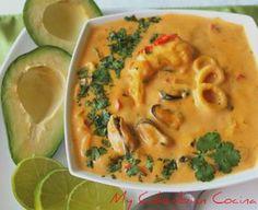 My Colombian Cocina - Cazuela de Mariscos - Güveç yemekleri - Las recetas más prácticas y fáciles Seafood Dishes, Seafood Recipes, Dinner Recipes, Cooking Recipes, Colombian Cuisine, Colombian Recipes, Cuban Recipes, Good Food, Yummy Food