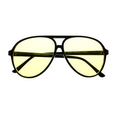 Night Driving Yellow Lens Large Aviator Sunglasses Shades A1770