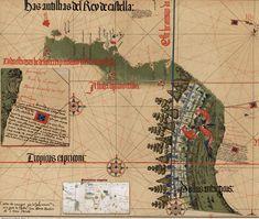 Brasil Cantino  Mapa mais antigo que se tem sobre o Brasil!