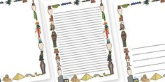 Ancient Egyptian Page Borders