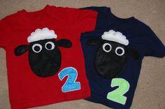 Shaun the Sheep birthday shirts