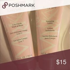 MARY KAY BATH SET NWT 2 in 1 body wash and shave and hydrating lotion. 6.5 oz each. SEALED. NEW. Sold as a set. Mary Kay Other