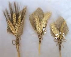 burlap boutonniere with wheat - yahoo Image Search Results