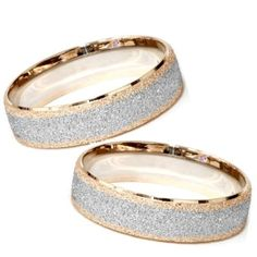 Matching His & Hers 14K Rose & White Gold Wedding Bands Mens Womens 2-Tone, Adult Unisex