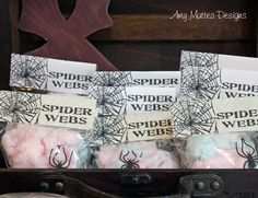 Indiana Jones Party www.aboyslife.etsy.com Spider Web Cotton Candy Favors