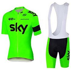 Mens Breathable Pro Cycling Team Bicycling Jerseys and Cycling Shorts Bib Kit L >>> Want additional info? Click on the image.