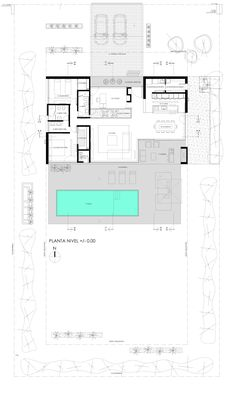 Modern von vismaracorsi arquitectos, modern Here are some photos of interior design ideas. Modern House Plans, Small House Plans, House Floor Plans, Drawing House Plans, Plan Drawing, Villa Plan, Plan Ville, Apartment Plans, Architecture Plan