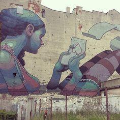 Found on #Starpin #Łodz #Poland #streetart #mural #domstudenta #uniwersytetlodzki
