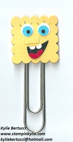 sponge bob bookmark