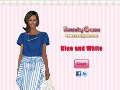 Dziewczyna wie jak skomponować swoją stylizację, by cieszyła wzrok. Modne zestawienie błękitu i bieli na pewno zda egzamin!  http://www.ubieranki.eu/ubieranki/10248/niebieski-z-biela.html