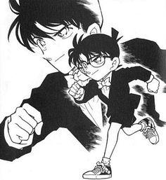 Manga Art, Manga Anime, Detective Conan Shinichi, Detective Conan Wallpapers, Gosho Aoyama, Kaito Kid, Kudo Shinichi, Magic Kaito, Case Closed