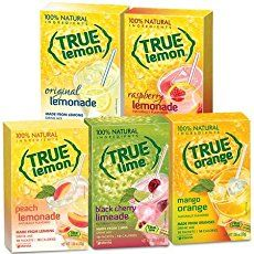 Best low calorie low carb natural drink powder sweetened with stevia! True Lemon Assorted Beverage & Lemonade Drink Mixes 10 Ct of & Gourmet Food Mango Lemonade, Raspberry Lemonade, Lemonade Drink, Limeade Drinks, Cherry Drink, Product Tester, How To Make Drinks, Thing 1, Lemon Cookies