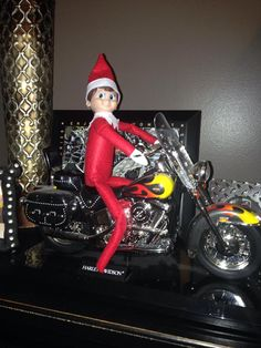 elf on a shelf biker christmas - Biker Christmas
