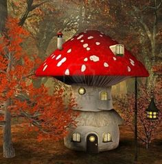 Illustration about Mushroom house in an enchanted forest. Illustration of garden, jungle, forest - 12689253 Mushroom House, Mushroom Art, Free To Use Images, Gnome House, Illustration, Fairy Art, Fairy Houses, Whimsical Art, Royalty Free Photos