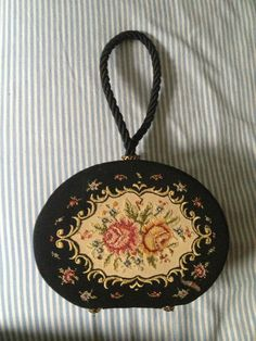 Vintage NeedlePoint Purse Made in Germany