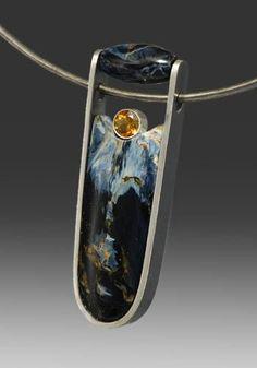 Pietersite Pendant by Wolfgang Vaatz
