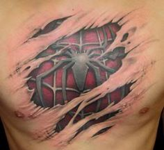 Tear away 'Spider Man' chest piece