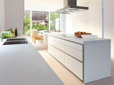 Cozinha Branca e Linear